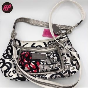 Coach Ltd Poppy Graffiti Convertible Shoulder Bag